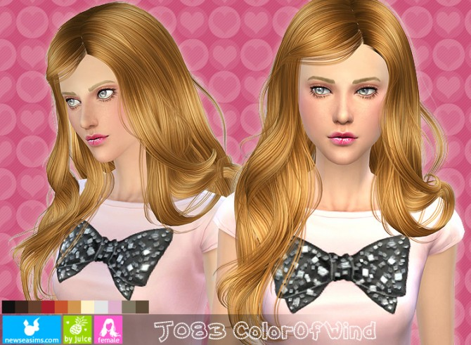 Sims 4 J083 Color of Wind Hair at Newsea Sims 4