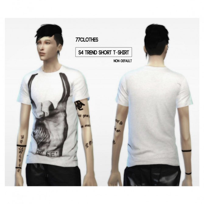77Clothes S4 trend short T Shirt at The77Sims3 image 7631 Sims 4 Updates