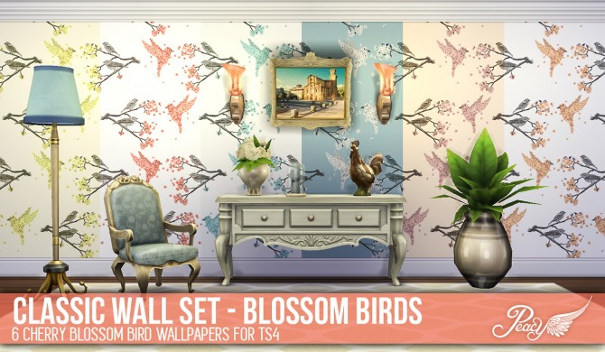 3 weathered brick patterns and 6 decorative wallpapers at Simsational Designs image 767 Sims 4 Updates