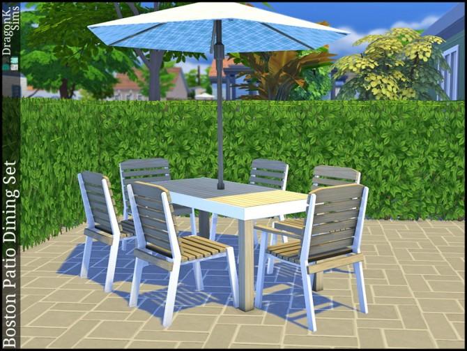 Boston Patio Dining Set at DragonK Sims image 768 Sims 4 Updates