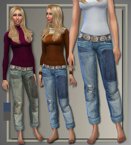 Fall 2014 sweaters, jeans and coat at All About Style image 770 Sims 4 Updates