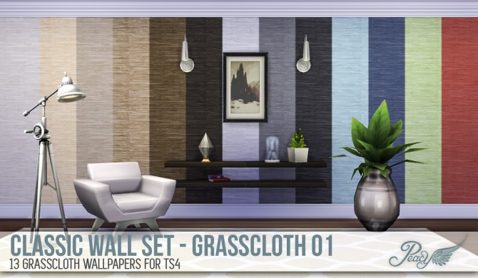 3 weathered brick patterns and 6 decorative wallpapers at Simsational Designs image 776 Sims 4 Updates