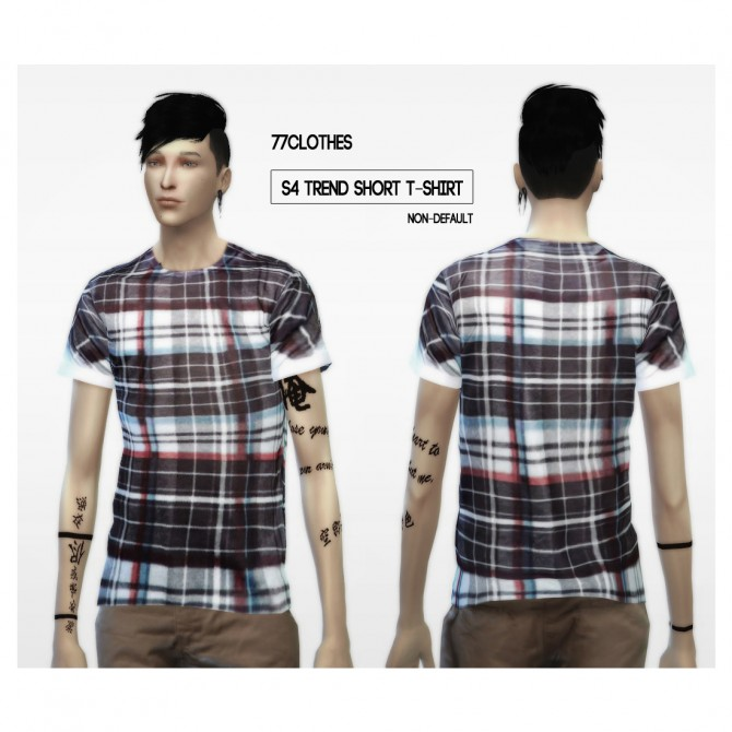 77Clothes S4 trend short T Shirt at The77Sims3 image 7811 Sims 4 Updates