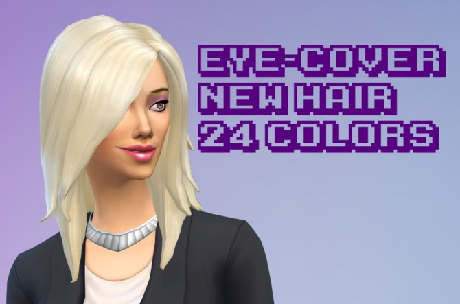 Eye cover hair 24 colors at GothFamilySwag image 785 Sims 4 Updates
