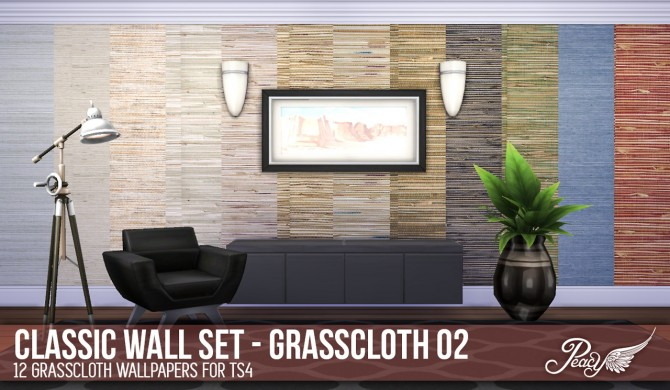 3 weathered brick patterns and 6 decorative wallpapers at Simsational Designs image 7851 Sims 4 Updates