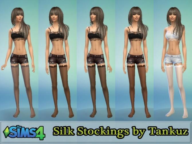 Sims 4 Silk Stockings at Tankuz Sims4