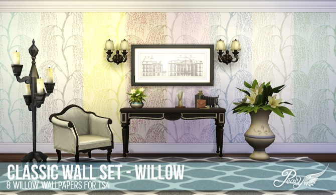 3 weathered brick patterns and 6 decorative wallpapers at Simsational Designs image 7971 Sims 4 Updates