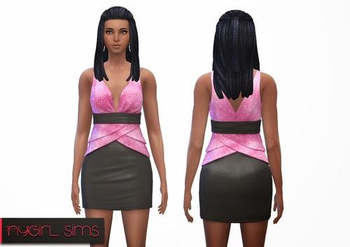 Sims 4 Tiered Formal Dress at NyGirl Sims