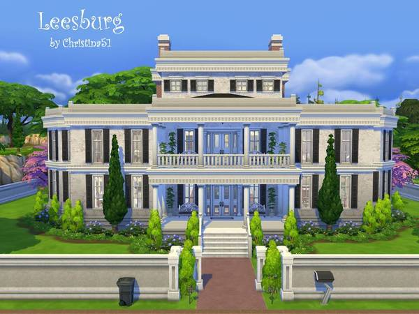 Sims 4 Leesburg house by Christina51 at TSR