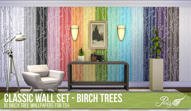 3 weathered brick patterns and 6 decorative wallpapers at Simsational Designs image 81111 Sims 4 Updates