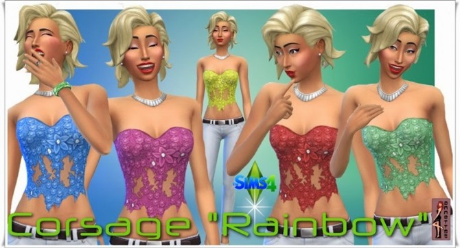 Rainbow corset top at Annett's Sims 4 Welt image 814 Sims 4 Updates
