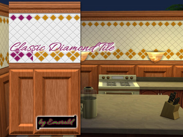 Sims 4 Classic Diamond Tile by emerald at TSR