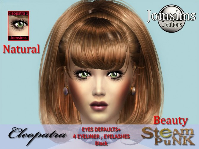 Sims 4 Steampunk Cleopatra clothes & makeup at Jomsims Creations