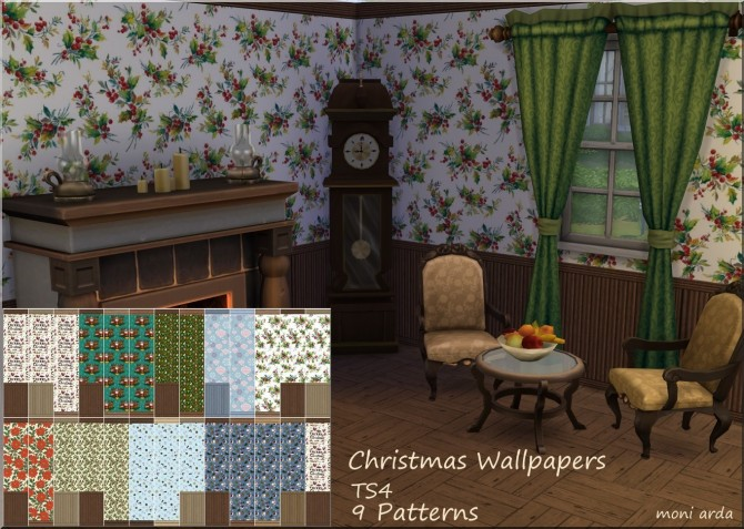 Christmas Wallpapers by Moni at ARDA image 865 Sims 4 Updates