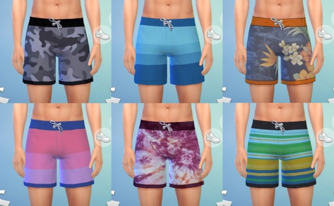 Sims 4 Swim Trunks by pinkleafsims at Mod The Sims