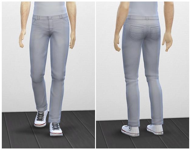 Sims 4 Basic jeans M at Rusty Nail