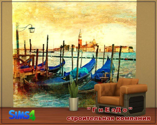 Sims 4 Mural 011 at Sims by Mulena