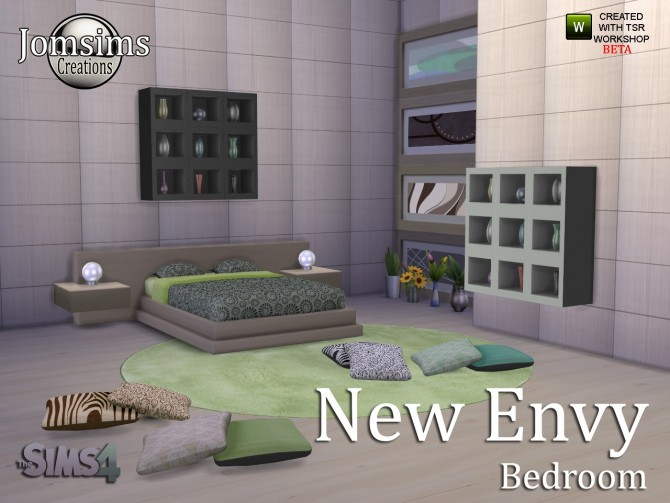 New envy bedroom at jomsims creations sims 4 updates for Bedroom designs sims 4