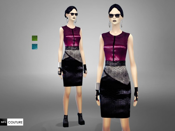 MFS Fame Dress by MissFortune at TSR » Sims 4 Updates