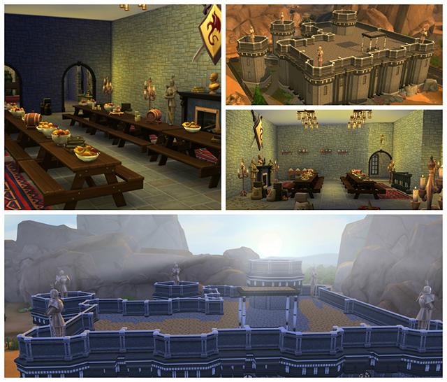 Sims 4 Fort Dawnguard   Skyrim by Sim4fun at Sims Fans