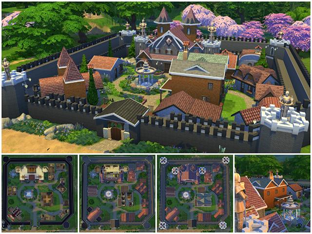 Sims 4 Fantasy Town by Sim4fun at Sims Fans
