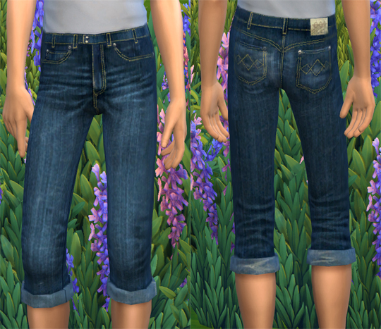SHORT SKINNY JEANS at Soloriya image 9312 Sims 4 Updates