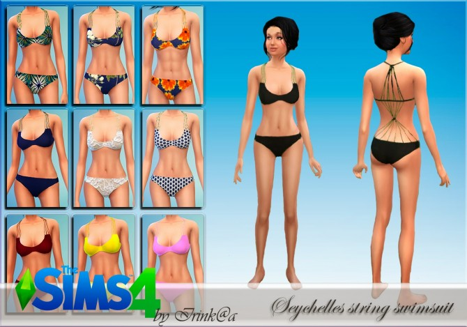 Sims 4 Seychelles string swimsuit at Irink@a