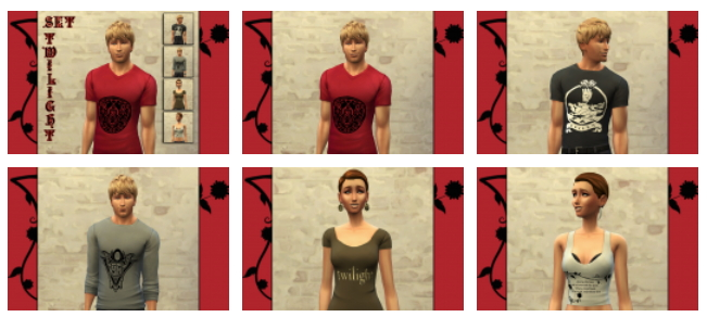 CINÉMA t shirts set by Bettyboopjade at Sims Artists image 93211 Sims 4 Updates