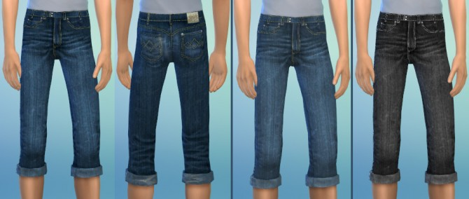 SHORT SKINNY JEANS at Soloriya image 94111 Sims 4 Updates