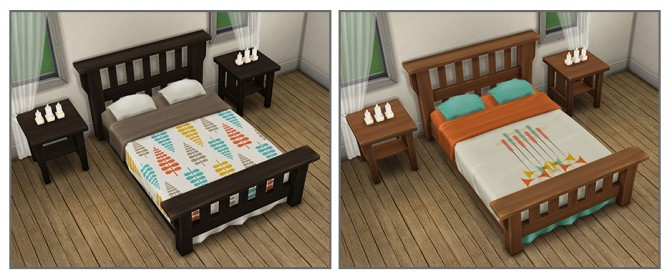 Single Mission Bed Recolors at Saudade Sims image 9414 Sims 4 Updates