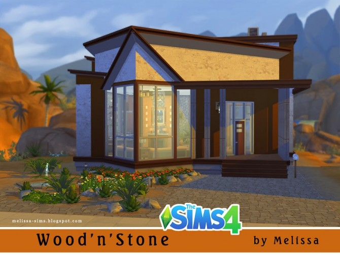 Sims 4 WoodnStone house at Melissa Sims4