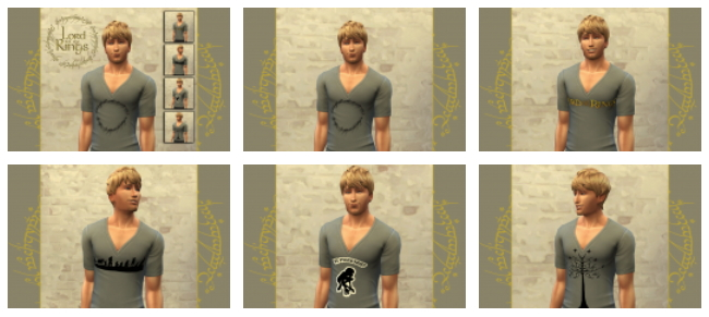 CINÉMA t shirts set by Bettyboopjade at Sims Artists image 94211 Sims 4 Updates