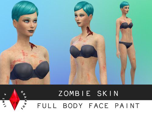 Clothes zombie skin and torso scars at sims 4 krampus image 944 sims