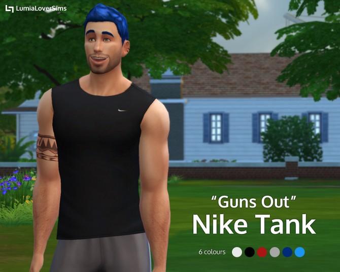 Guns Out Nike Tank at LumiaLover Sims image 950 Sims 4 Updates