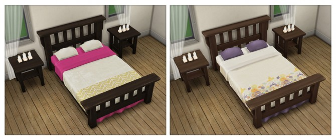 Single Mission Bed Recolors at Saudade Sims image 9514 Sims 4 Updates