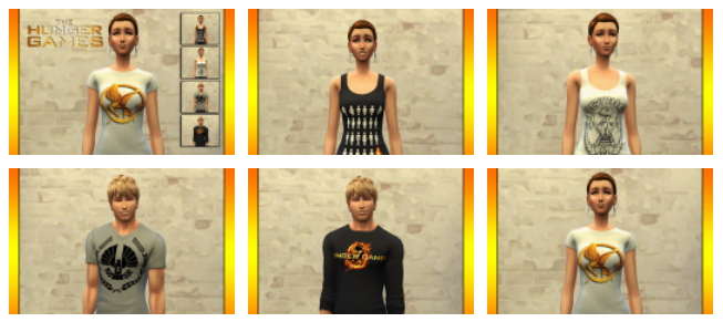 Sims 4 CINÉMA t shirts set by Bettyboopjade at Sims Artists