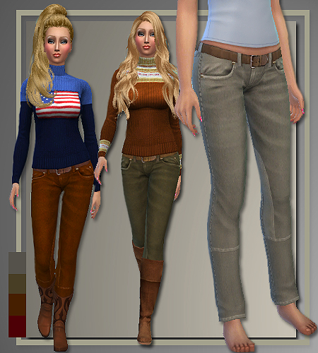 Fall 2014 sweaters, jeans and coat at All About Style image 960 Sims 4 Updates