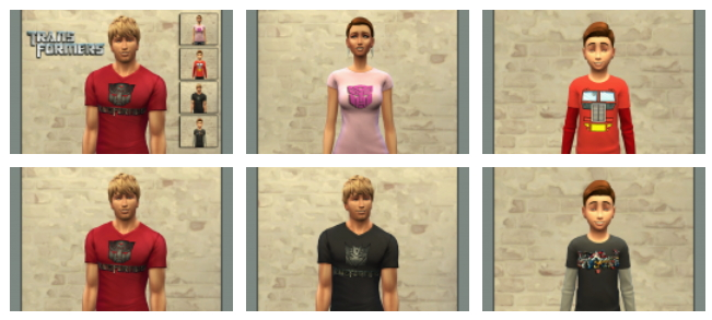 CINÉMA t shirts set by Bettyboopjade at Sims Artists image 9615 Sims 4 Updates