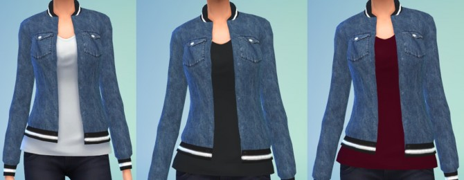 Sims 4 Big Denim Jackets at Belle's Simblr