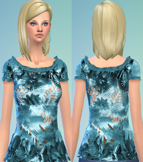FLOWERS AND LEAVES top at Soloriya image 979 Sims 4 Updates