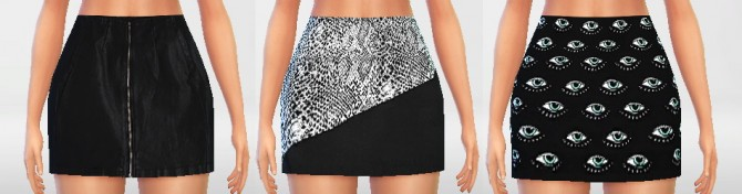 Sims 4 High Waisted Skirts Set at Puresims