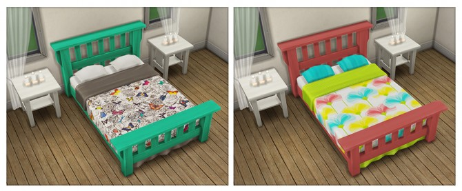 Single Mission Bed Recolors at Saudade Sims image 9812 Sims 4 Updates
