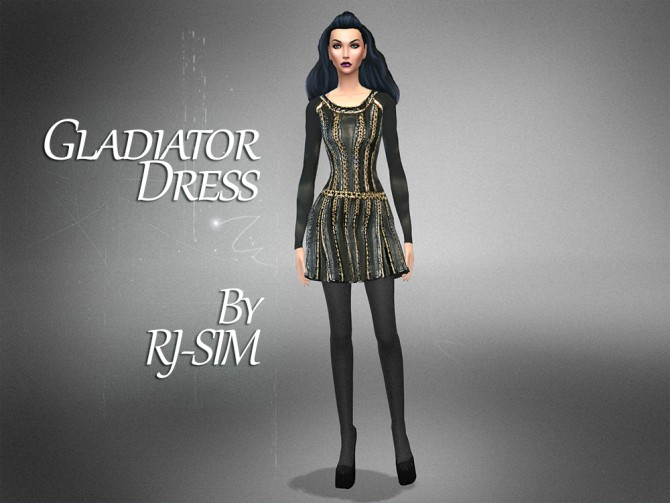 GLADIATOR DRESS at RJ Sim image 991 Sims 4 Updates
