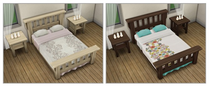 Single Mission Bed Recolors at Saudade Sims image 9912 Sims 4 Updates