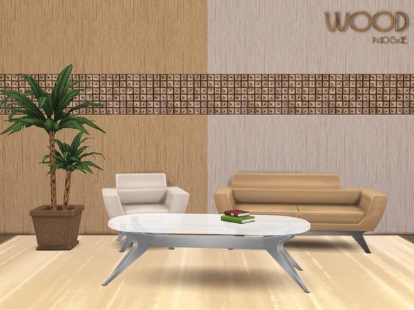 Sims 4 Wood walls by Paogae at TSR