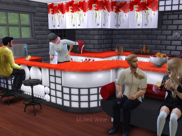 Mulled Wine kitchen/dining by Kiolometro at TSR image 10134 Sims 4 Updates