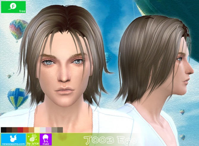 J003 Ego hair for males (free) at Newsea Sims 4 image 10310 Sims 4 Updates