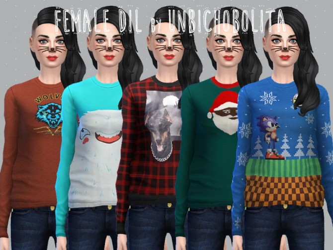 Sims 4 Dil´s long tees and sweaters at Un bichobolita
