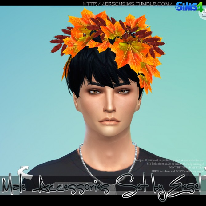 Male Accessories Set by Ersel at ErSch Sims image 1035 Sims 4 Updates