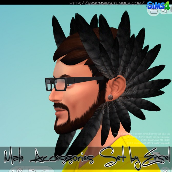 Male Accessories Set by Ersel at ErSch Sims image 1046 Sims 4 Updates